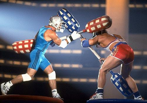 This was my childhood. Except they used protective headgear and padding on the sticks.
