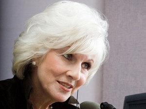 Diane Rehm: Strong broadcaster, voice like the Grim Reaper.